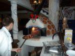 Pec na pizzu v akci